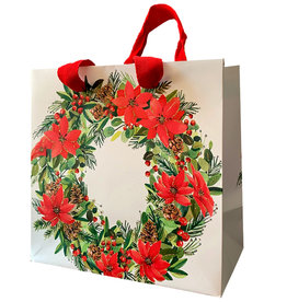 PAPYRUS® Christmas Gift Bag Medium 8.5x8.5x4.5 Deck The Halls WH