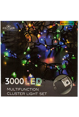 Kurt Adler 3000-Light Multi-Color LED Cluster Garland Light Set 98FT