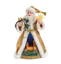 Kurt Adler Fabriche Nativity Santa 11.5 Inch Battery-Operated LED