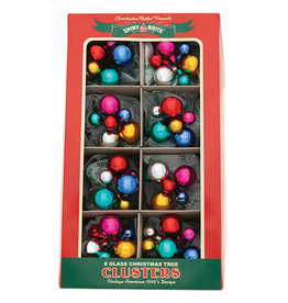 Christopher Radko Shiny Brite Clusters Ornaments 8ct 6pc 1Inch .5 Inch