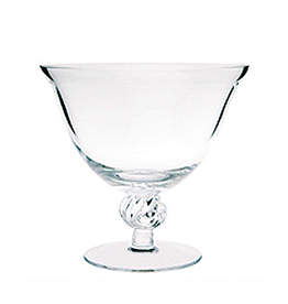 Glass Shell Footed Compote Bowl