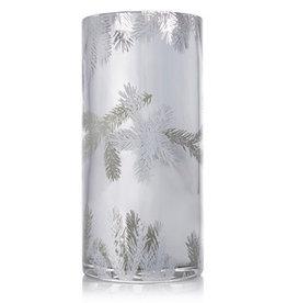 Frasier Fir Statement Candle Luminary Pillar LG 30oz Silver Pine Design