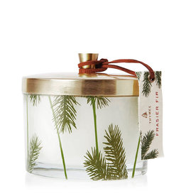 Frasier Fir Pine Needle 3 Wick Candle Glass W Tin Lid 11.5 Oz
