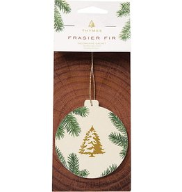 Frasier Fir Decorative Sachet - Round Ornament Shape