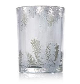 Frasier Fir Statement Candle Luminary Pillar SM 8.5 Oz Silver Pine Design