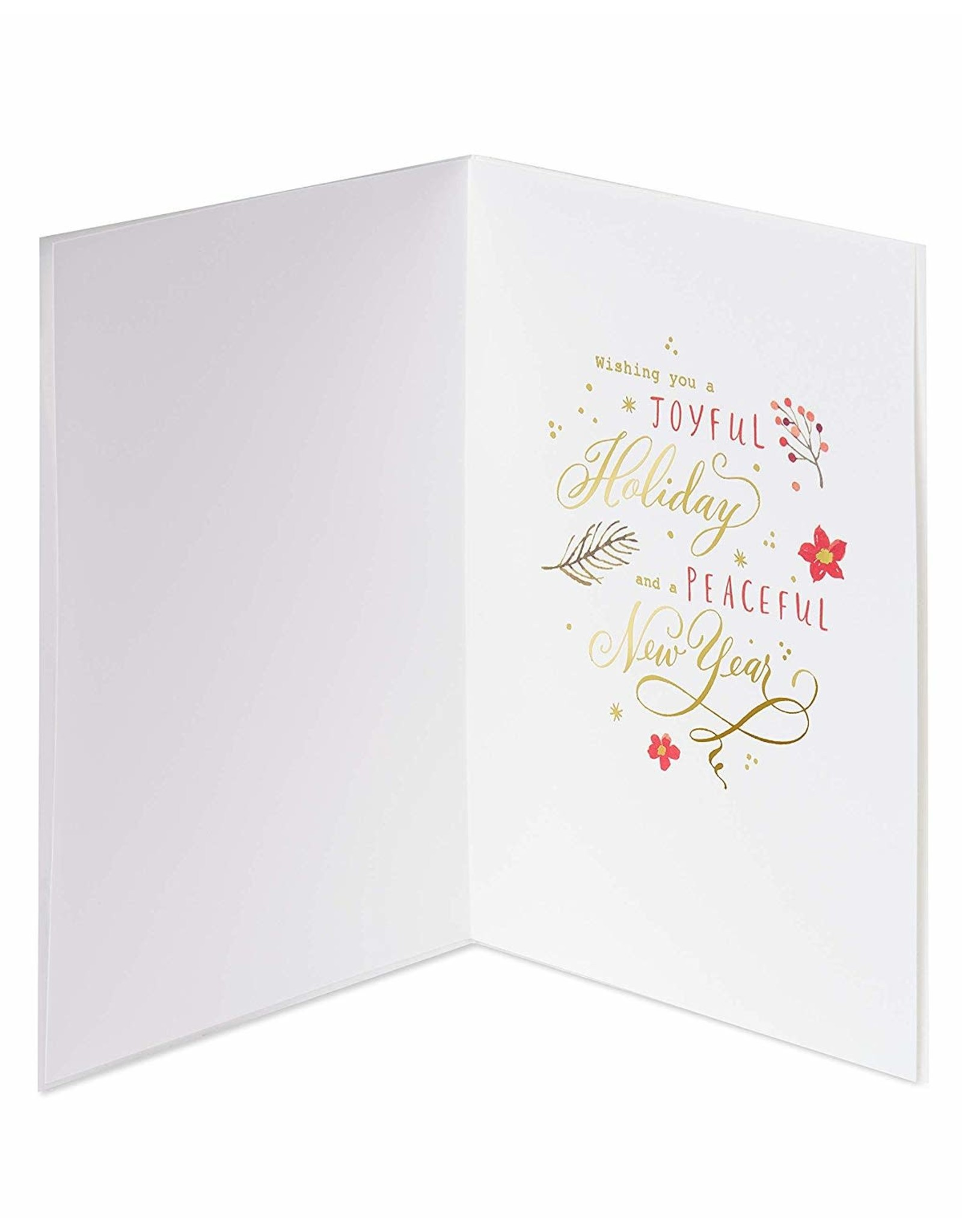 PAPYRUS® Boxed Christmas Cards 8 CT Seasons Greetings Star Wreath