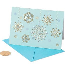 PAPYRUS® Boxed Christmas Cards 12pk Hanging Glitter Snowflakes