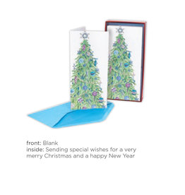 PAPYRUS® Boxed Christmas Cards 16pk Allegro Painterly Tree