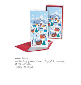 PAPYRUS® Boxed Christmas Cards 16pk Allegro Whimsy Village