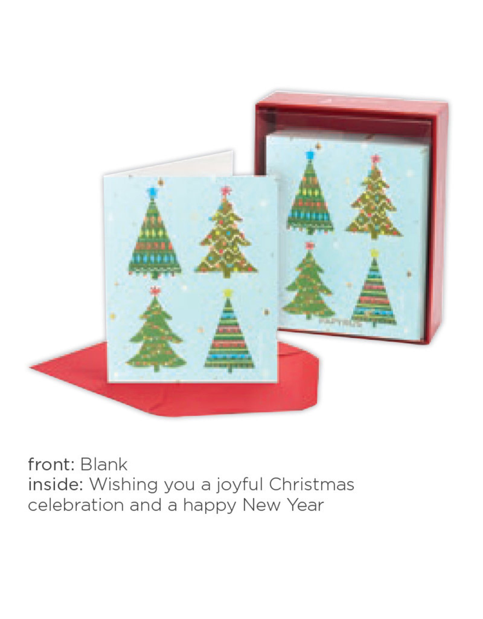 PAPYRUS® Boxed Christmas Cards 20pk Grid Of Trees
