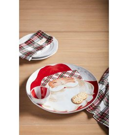 Mud Pie Mud Pie Santa Chip And Dip Tartan Design