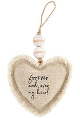 Mud Pie Forever And Ever My Heart Ornament Plush W Beading