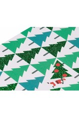PAPYRUS® Boxed Christmas Cards 20 CT Glitter Pine Trees With Santa