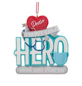Kurt Adler Front Line Doctor Hero Christmas Ornament