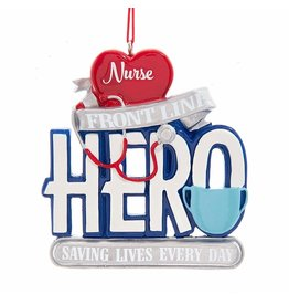 Kurt Adler Front Line Nurse Hero Christmas Ornament