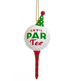 Kurt Adler Lets Par-Tee Golf Christmas Ornament