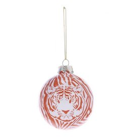 Kurt Adler Glass Ball Christmas Ornaments 80mm - Tiger