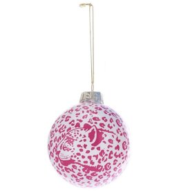 Kurt Adler Glass Ball Christmas Ornaments 80mm - Leopard