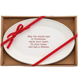 Mud Pie May The Simple Joys Of Christmas Tray 7x11 Inches