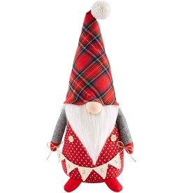 Mud Pie Christmas Gnome Sitter Lg Dot W GNOEL Banner 15 Inch