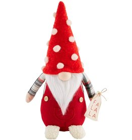 Mud Pie Christmas Gnome Sitter Small With Fa La La 11 Inch