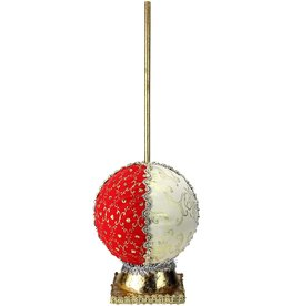 Mark Roberts Fairies Ornamental Ball Stand 7 inch Red Cream