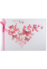 PAPYRUS® Anniversary Card To Wife Butterfly Heart Flutter