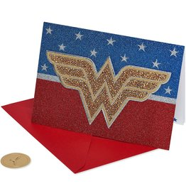 PAPYRUS® Birthday Card Wonder Woman Patch