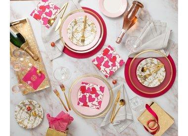 Valentine's Day Paper Napkins Plates