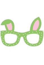 Caspari Easter Cards Easter Glasses Die-Cut Triple-Fold Greeting Card