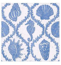 Caspari Paper Cocktail Napkins 20pk Seychelles In Blue