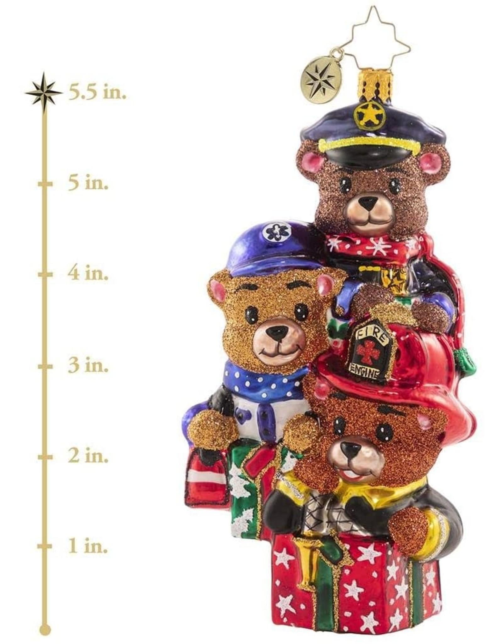 Christopher Radko Beary Best Rescuers Fireman Ornament 5 inch
