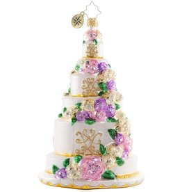 Christopher Radko Six-Tier Celebration Ornament 7 inch