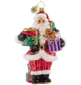 Christopher Radko Sugar Craving Santa Claus Ornament 6 inch