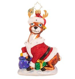 Christopher Radko Going Stag This Christmas Ornament 5 inch