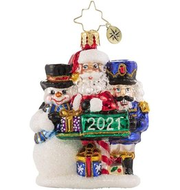 Christopher Radko A Forever-Treasured Trio 2021 Gem Ornament 3 inch