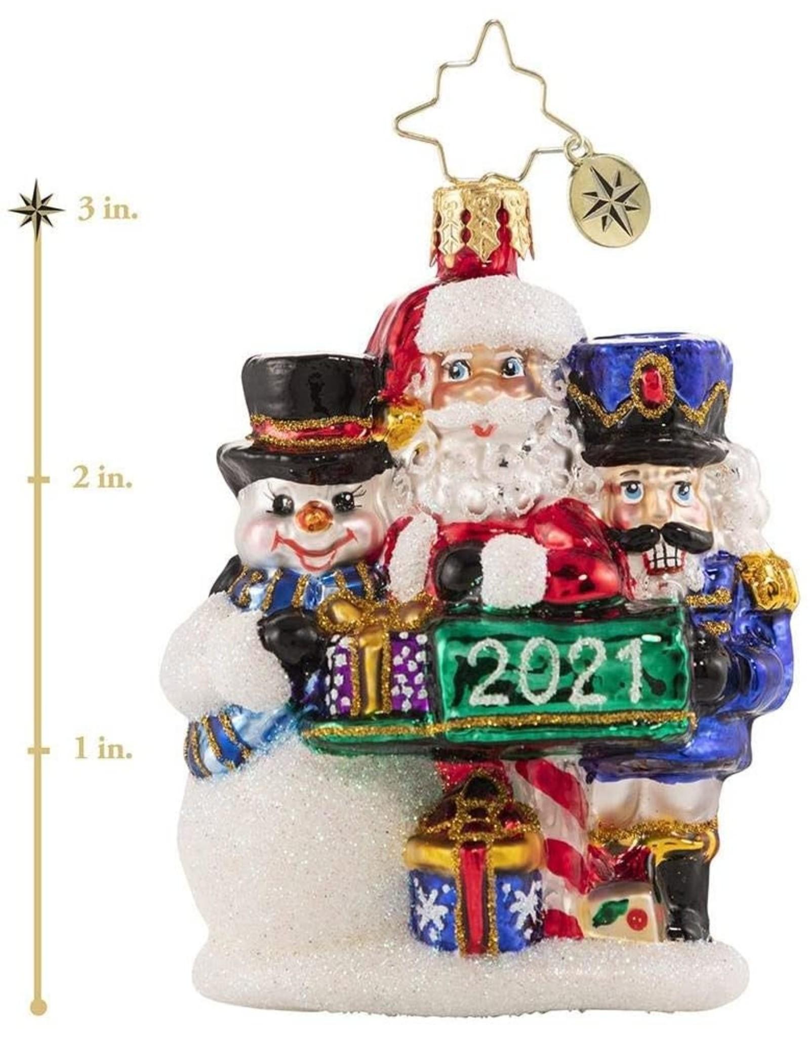 Christopher Radko A Forever-Treasured Trio 2021 Gem Ornament 3 inch