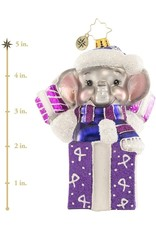 Christopher Radko Always On My Mind Elephant Alzheimer's Ornament