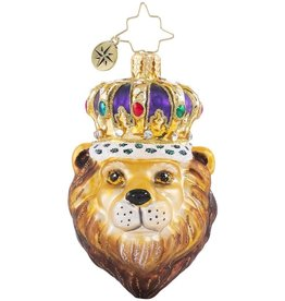 Christopher Radko Roaring Royalty Lion Gem Ornament