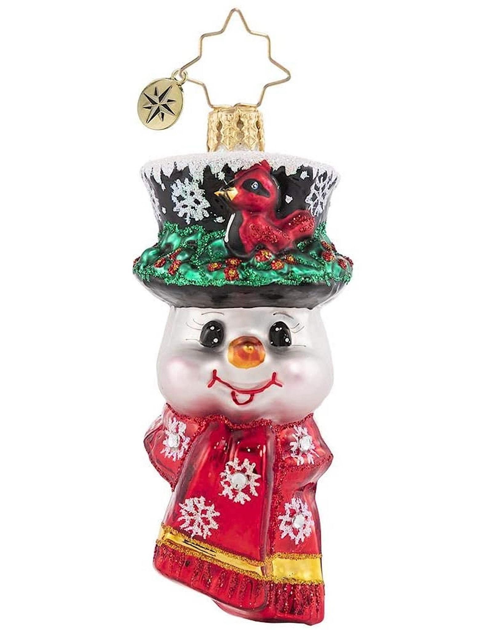 Christopher Radko A Snowman Worth Flocking To Gem Ornament