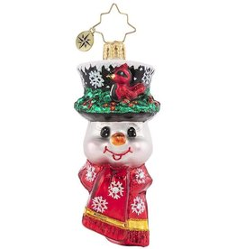 Christopher Radko A Snowman Worth Flocking To Gem Ornament