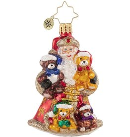 Christopher Radko Flush With Plush Santa Gem Ornament