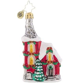 Christopher Radko The Charming Chapel Gem Ornament