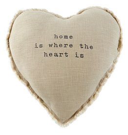Mud Pie Heart Home Pillow 20x20 w Home Is Where The Heart Is