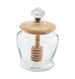 Mud Pie Glass Door Knob Honey Jar