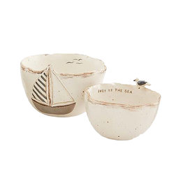 Mud Pie Sea Dip Cup Set - Sailboat and Seagull
