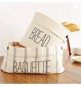 Mud Pie Canvas Bread Baskets Bread Holders 2pc Set