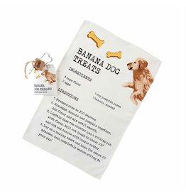 Mud Pie Hand Towel w Banana Dog Treat Recipe And Bone Cookie Cutter