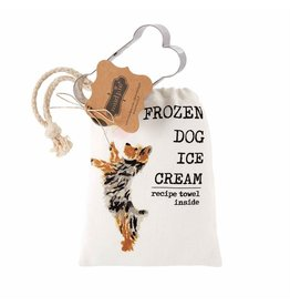Mud Pie Hand Towel w Ice Cream Dog Treat Recipe And Bone Cookie Cutter