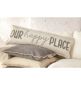 Mud Pie Our Happy Place Long Pillow 12x35 inch